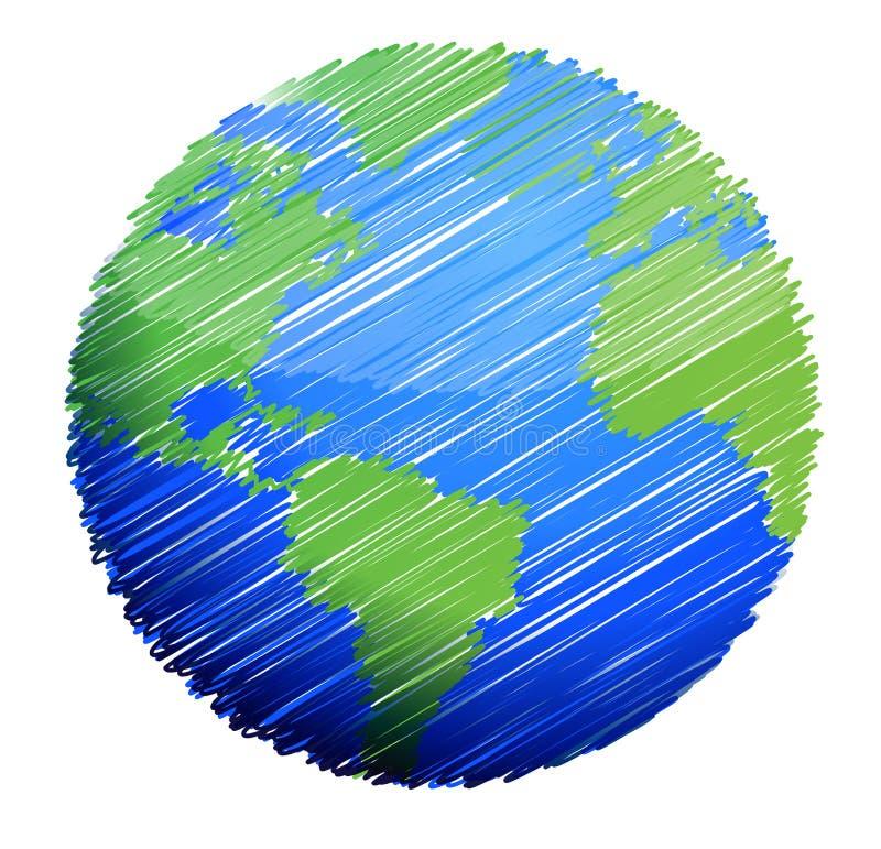 Earth sketch stock illustration