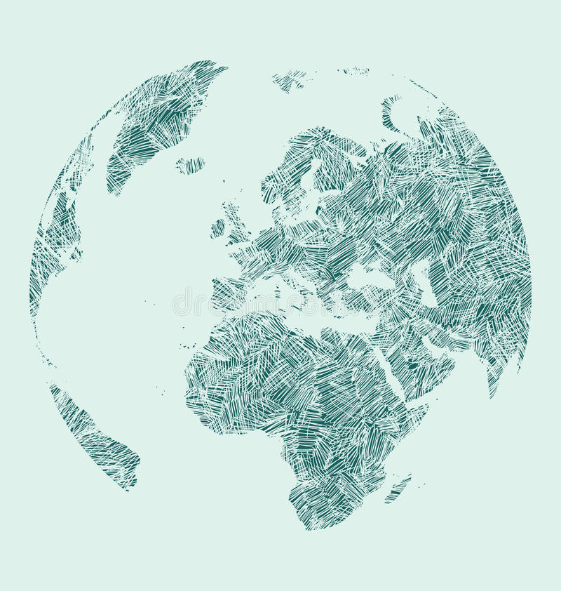 Earth sketch vector illustration