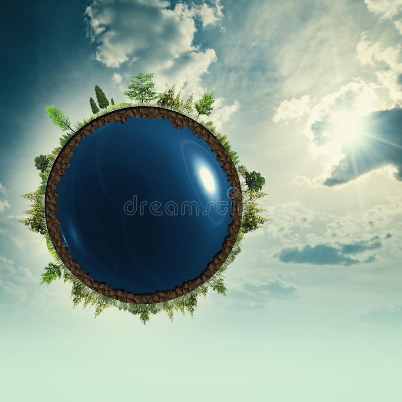 Earth at the skies royalty free stock images