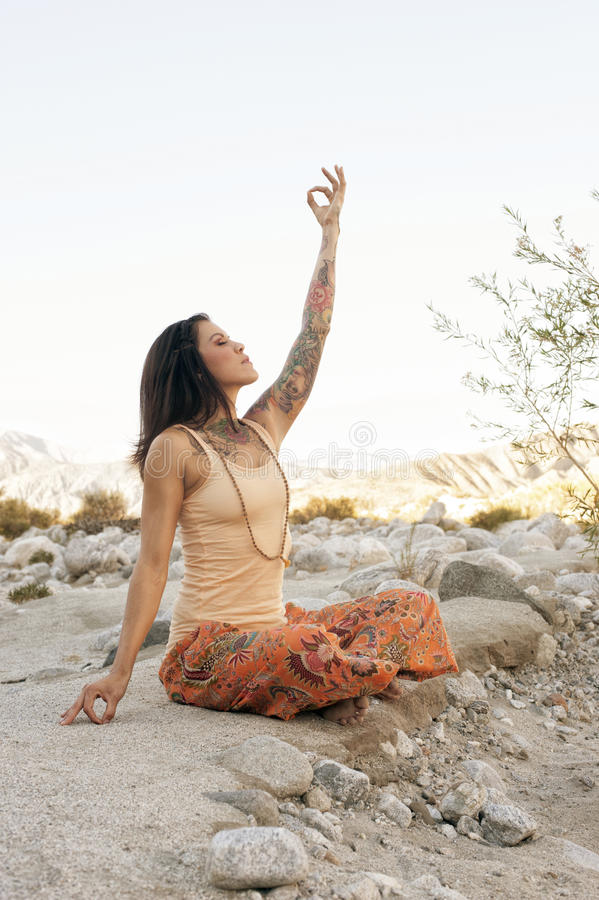 Download Earth And Sky Yoga Stock Photos - Image: 28051423