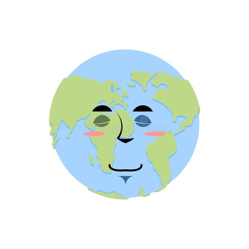 Earth Sad Emoji Planet Unhappy Emotion Isolated Stock