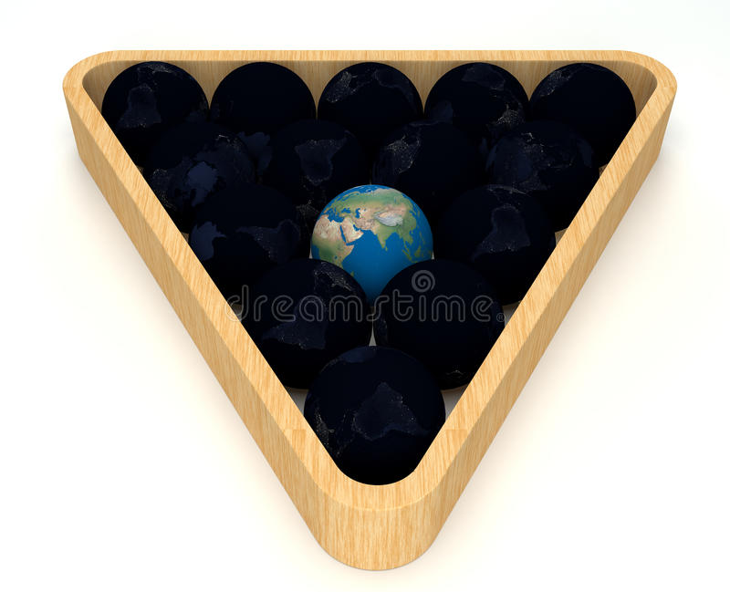 Earth Snookers In White Background Royalty Free Stock Images