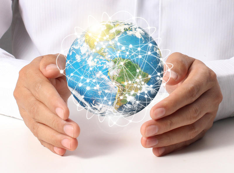 Earth social in hand