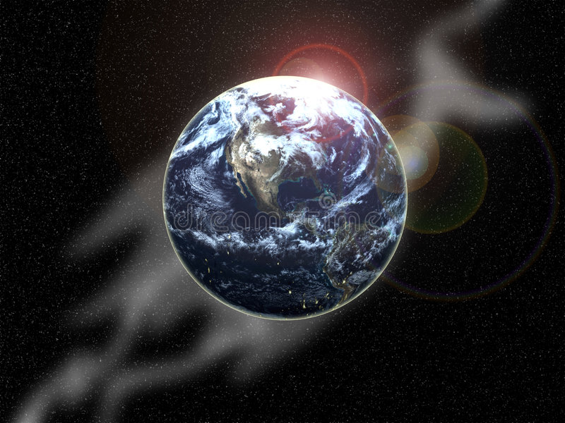 Download The Earth In Space 1 stock illustration. Image of ocean - 5756463