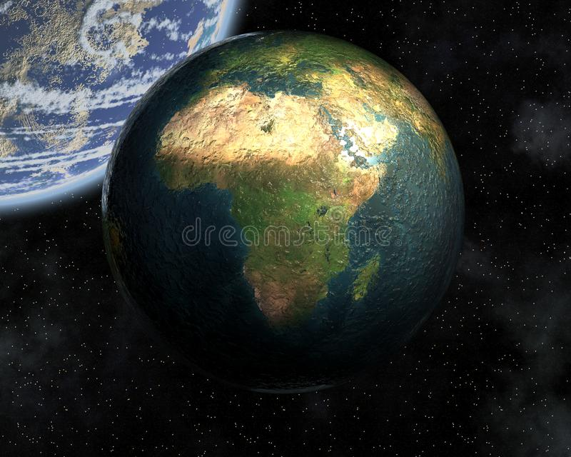 Download Earth in space stock illustration. Illustration of north - 14134919