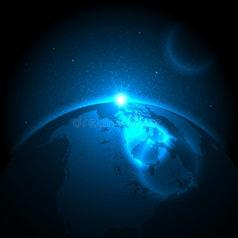 Earth and Space royalty free illustration