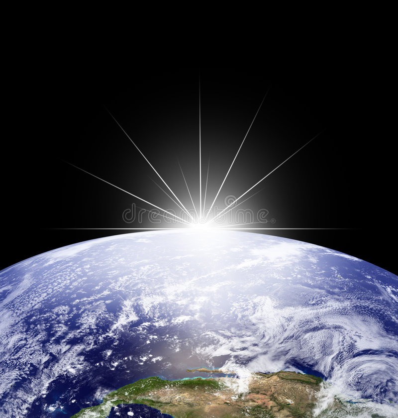 Earth in space stock illustration
