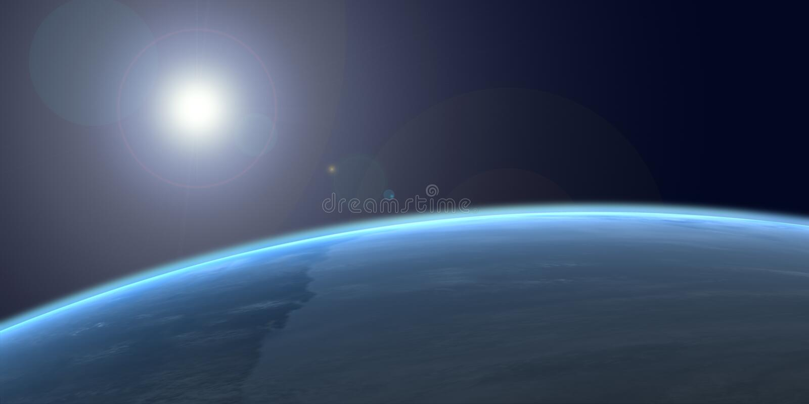 Earth from space royalty free illustration