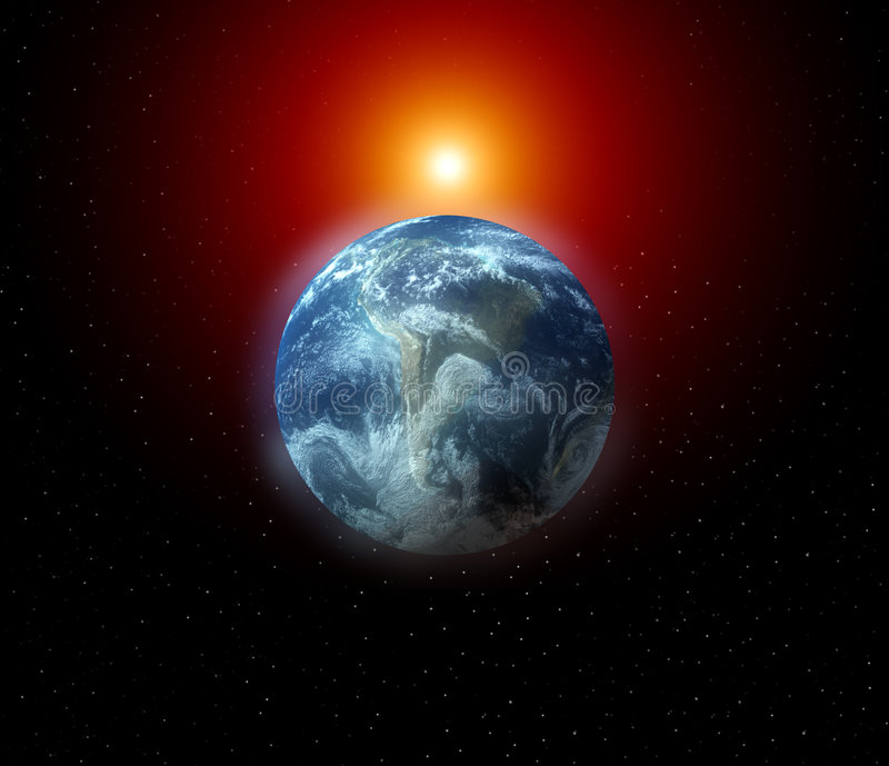 The Earth In Space 4 Stock Images