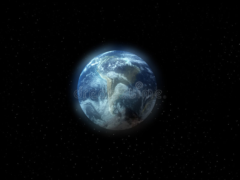 The Earth In Space Stock Image