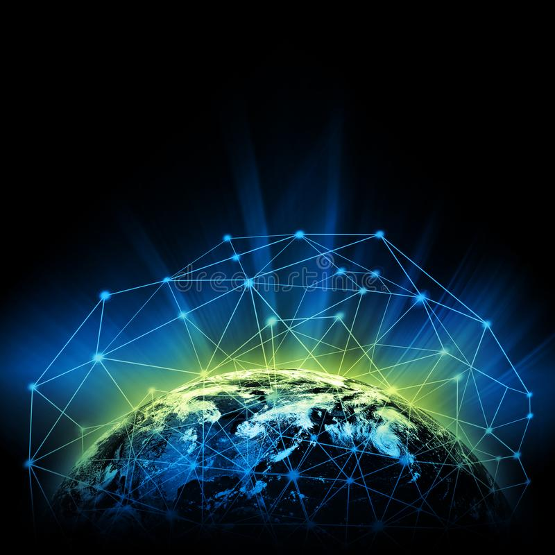 Earth from Space. Best Internet Concept of global business from concepts series. Elements of this image furnished by stock photos