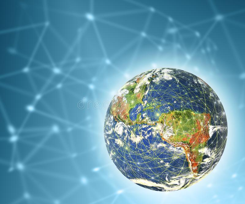 Earth from Space. Best Internet Concept of global business from concepts series. Elements of this image furnished by royalty free stock photography