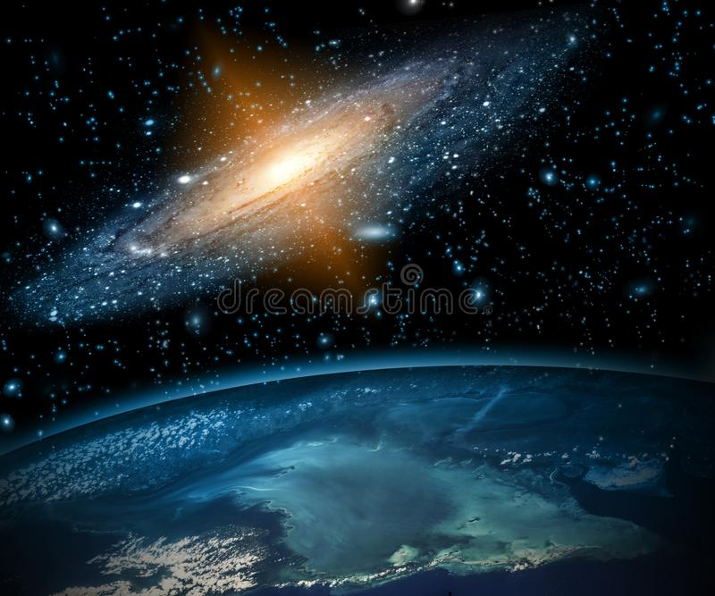 Earth from Space. Best Internet Concept of global business from concepts series. Elements of this image furnished by royalty free stock image