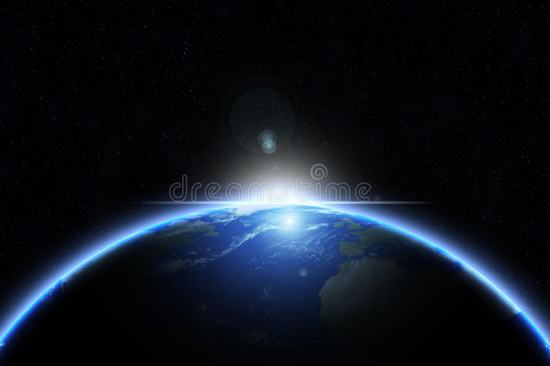 Earth from space - earth texture by nasa.gov stock illustration