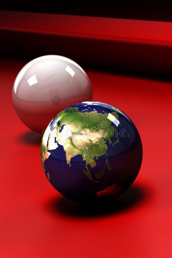 Download Earth at stake stock illustration. Image of concept, billiards - 5666956