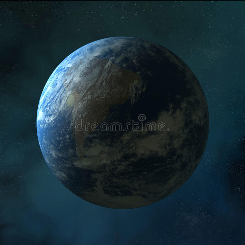 Earth. Standing on clean space royalty free illustration