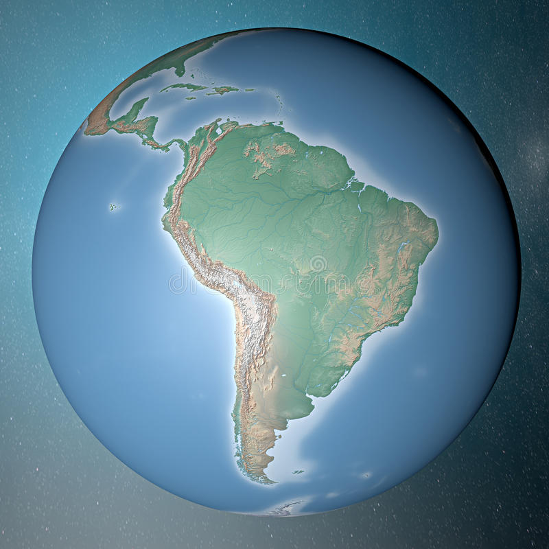 Earth Standing On Clean Space South America Stock Photography