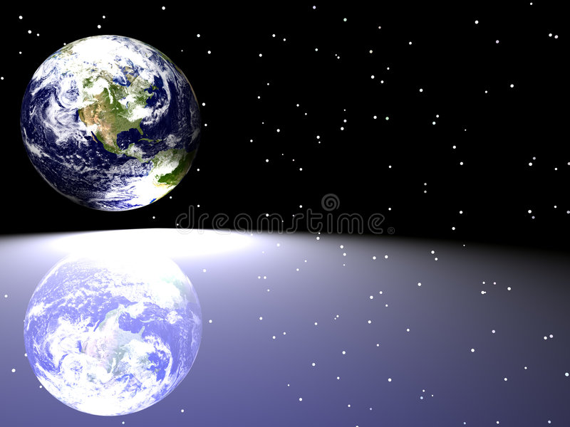 Download Earth / Star Scape stock illustration. Illustration of reflective - 2097654