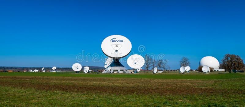 Earth station in Raisting, Bavaria-March 23, 2019. Earth station in Raisting, Bavaria stock images