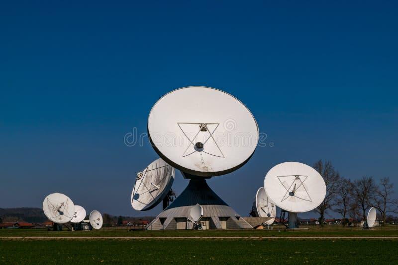 Earth station in Raisting, Bavaria-March 23, 2019. Earth station in Raisting, Bavaria stock image