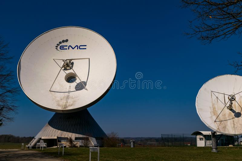 Earth station in Raisting, Bavaria-March 23, 2019. Earth station in Raisting, Bavaria royalty free stock image