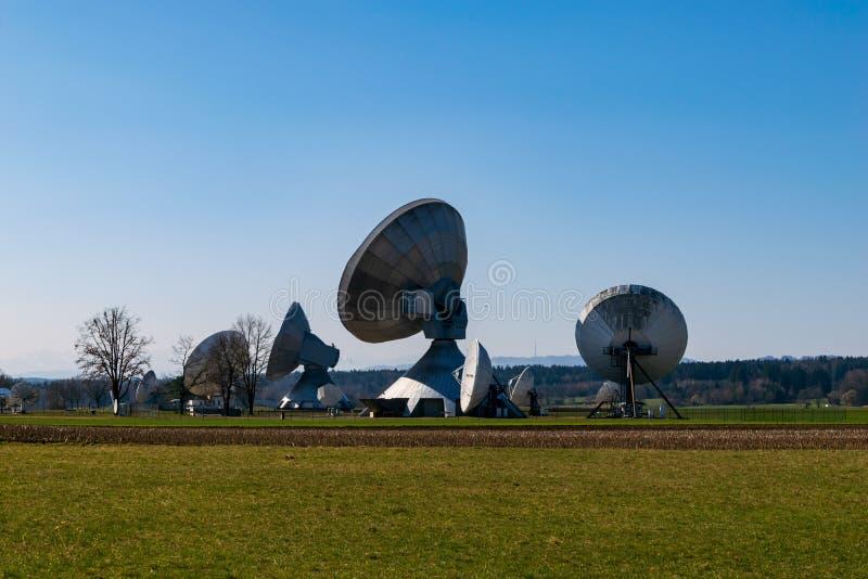 Earth station in Raisting, Bavaria-March 23, 2019. Earth station in Raisting, Bavaria stock photography