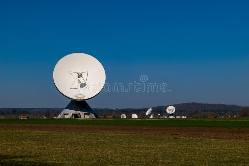 Earth station in Raisting, Bavaria-March 23, 2019. Earth station in Raisting, Bavaria stock photo