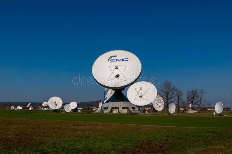 Earth station in Raisting, Bavaria-March 23, 2019. Earth station in Raisting, Bavaria royalty free stock images