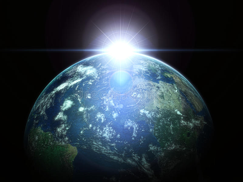 Download Earth And Sun Stock Photo - Image: 12999010