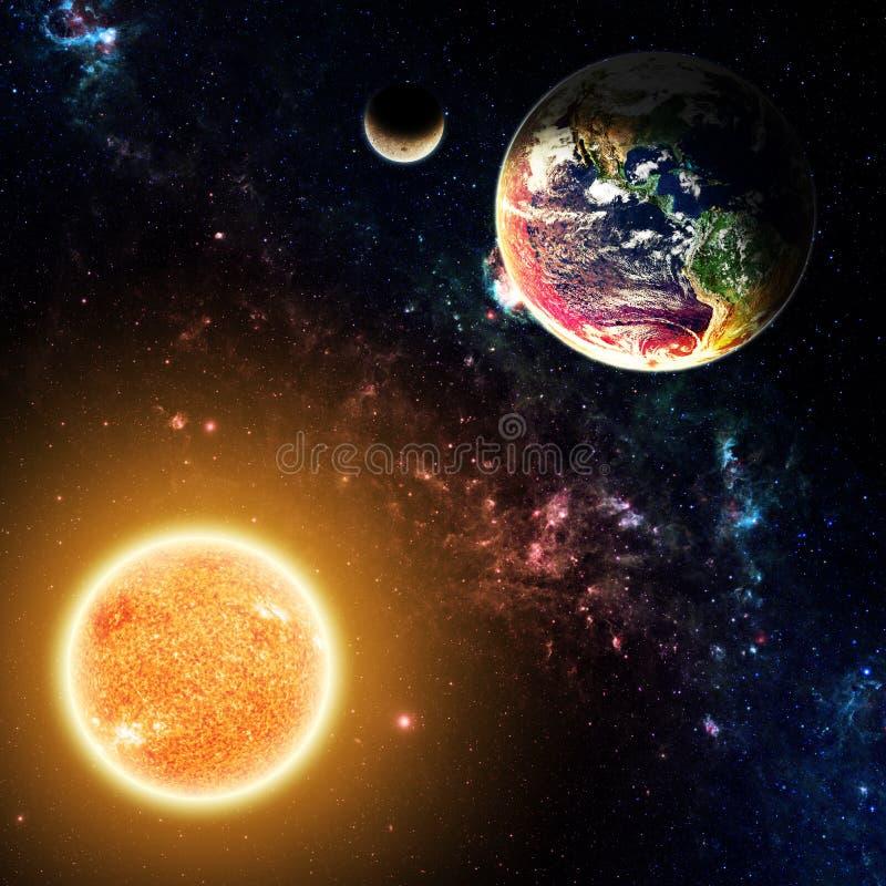 The Earth & Sun stock photography