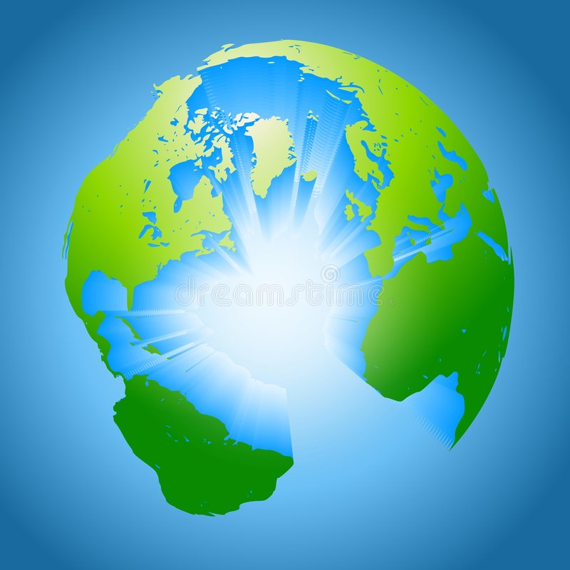 Earth Surface Core Explosion royalty free stock photo