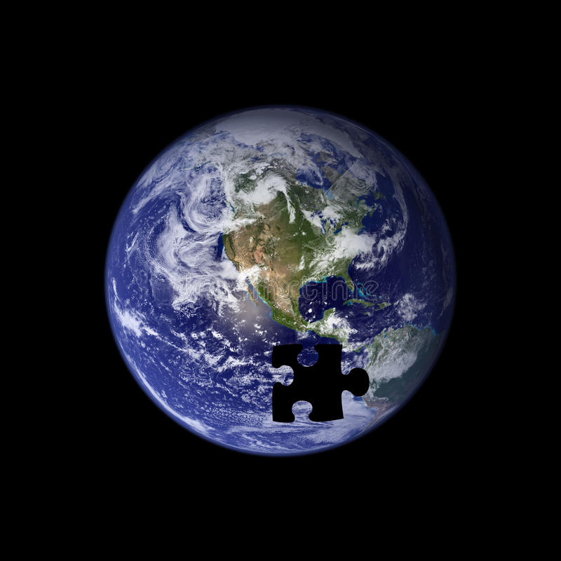 Free Earth The Missing Piece Royalty Free Stock Photography - 13100197