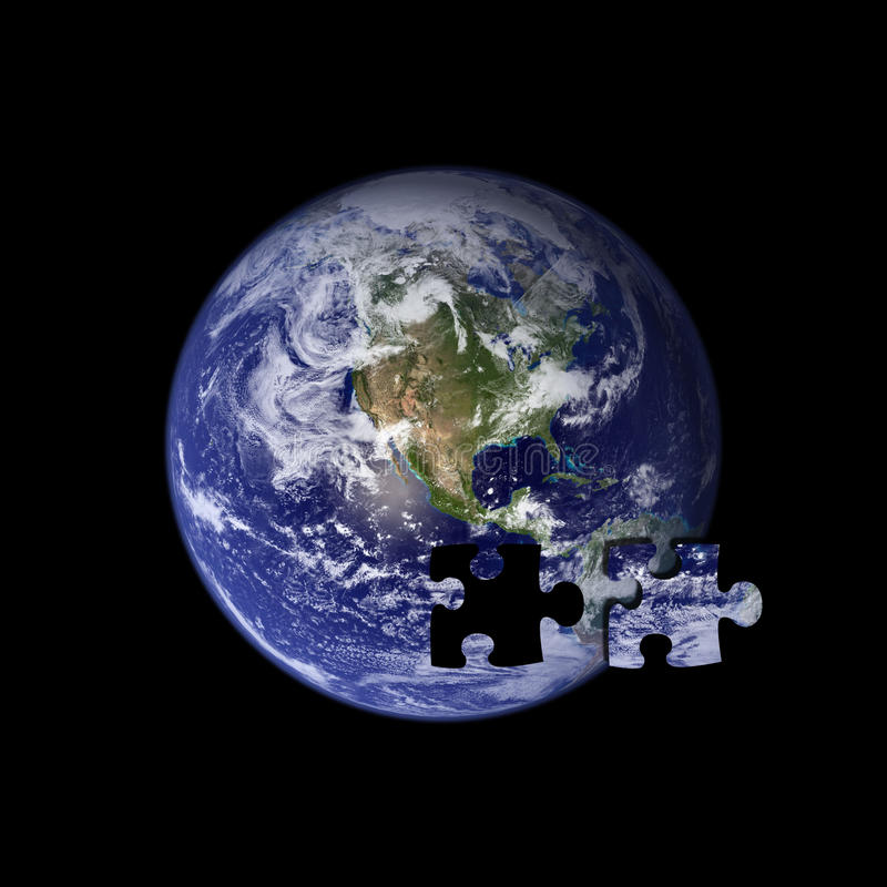 Free Earth The Missing Piece Royalty Free Stock Images - 13100199