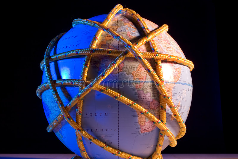 Earth tied up royalty free stock images