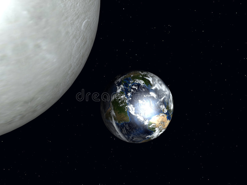 Download Earth To The Moon stock illustration. Image of moon, orbit - 1118454