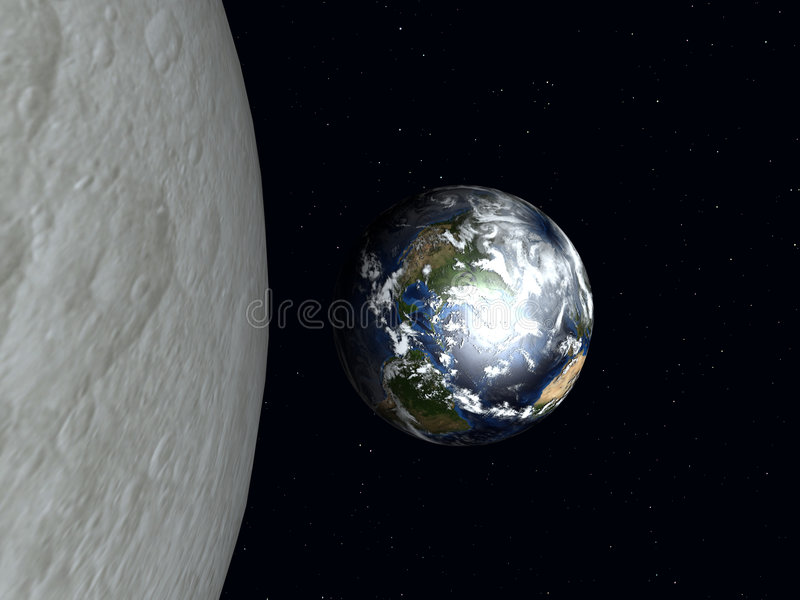 Download Earth To The Moon 2 stock illustration. Image of mass - 1118462