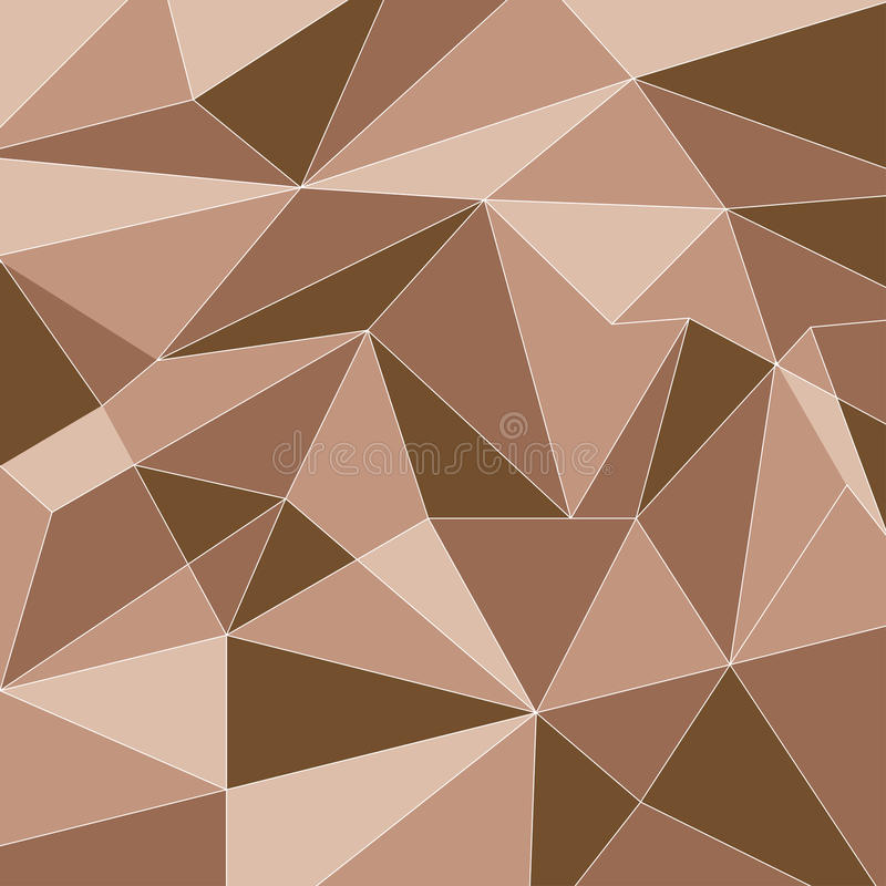 Earth Tone Polygon Technology Vector Background vector illustration
