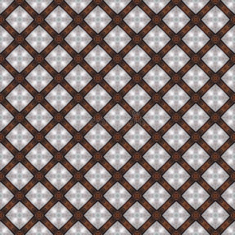 Earth Tones Abstract Seamless Pattern Illustration stock illustration