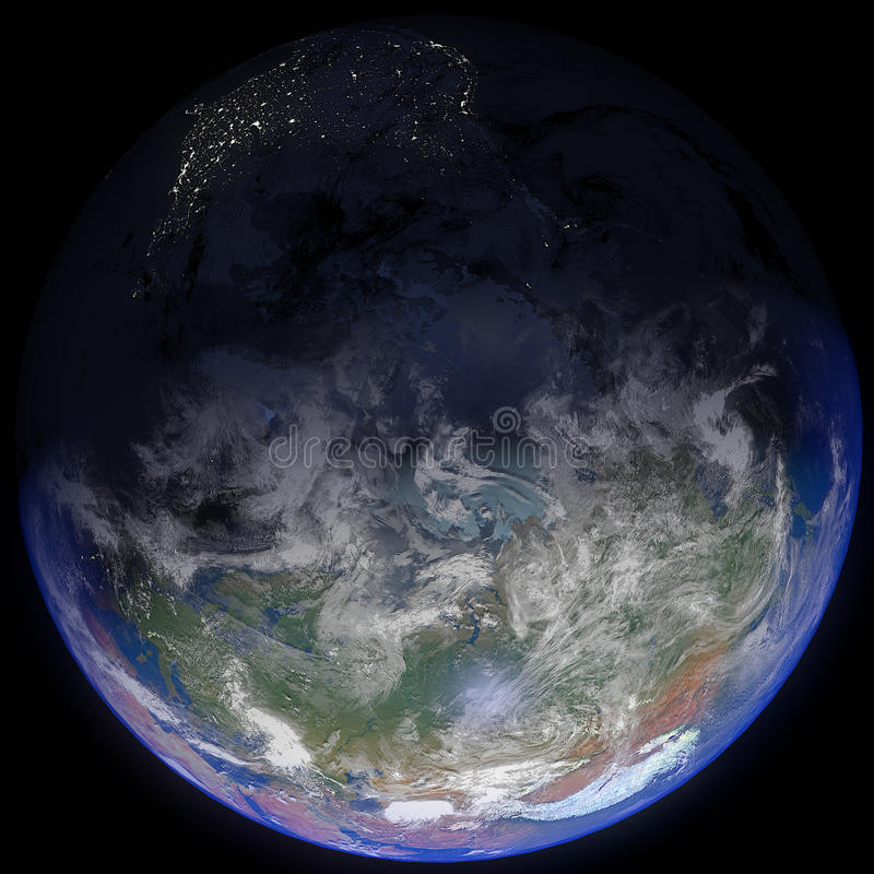 Earth At Top stock images