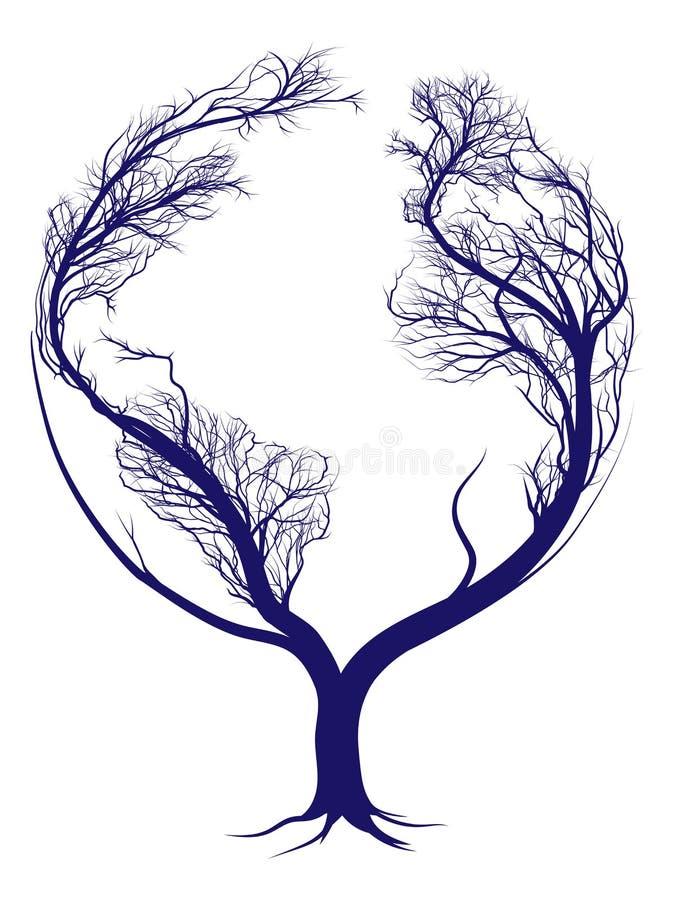 Earth tree stock illustration