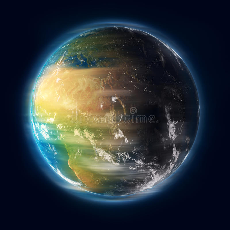 Earth turning royalty free stock photo
