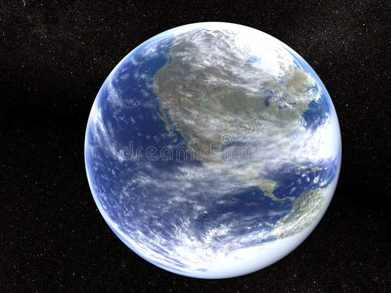 Earth in the universe stock illustration