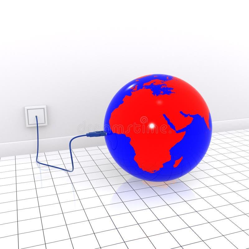 Earth usb vector illustration