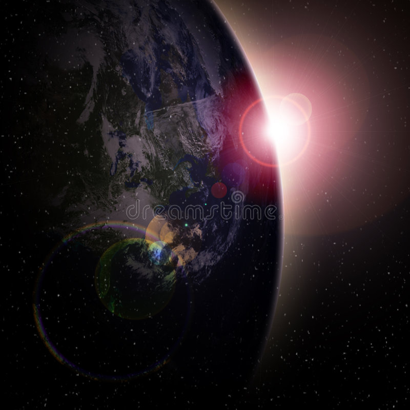 Earth view vector illustration