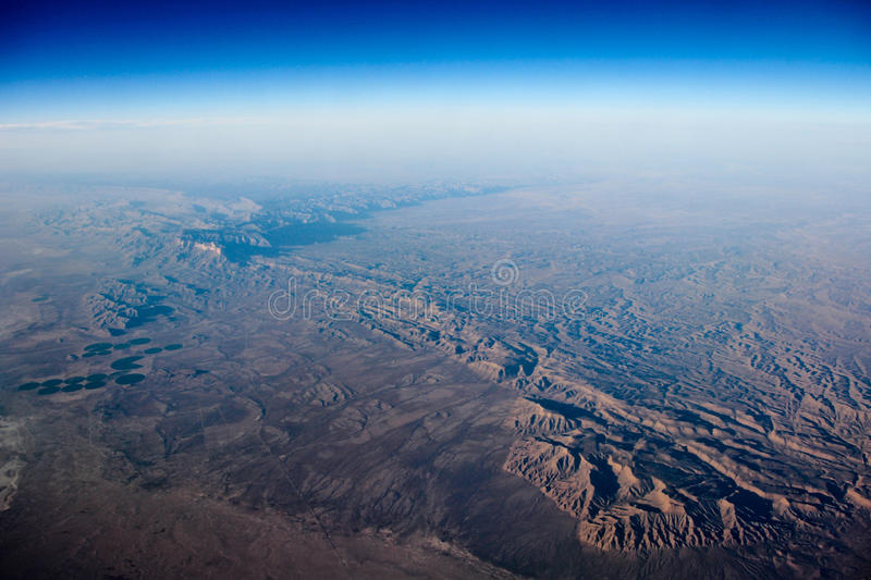 Download Earth viewed from the air stock image. Image of expedition - 24483495