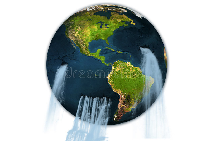 Download Earth of water stock illustration. Illustration of blue - 7505607