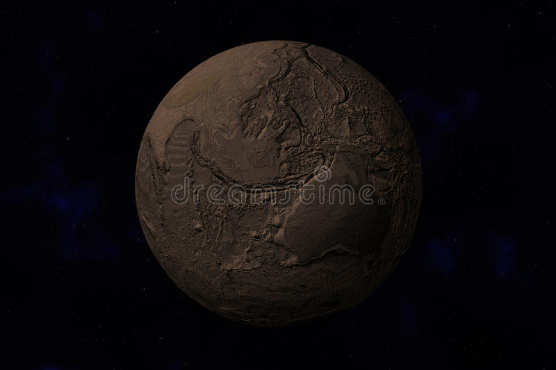 Download Earth Without Water And Plants Stock Illustration - Image: 16776818