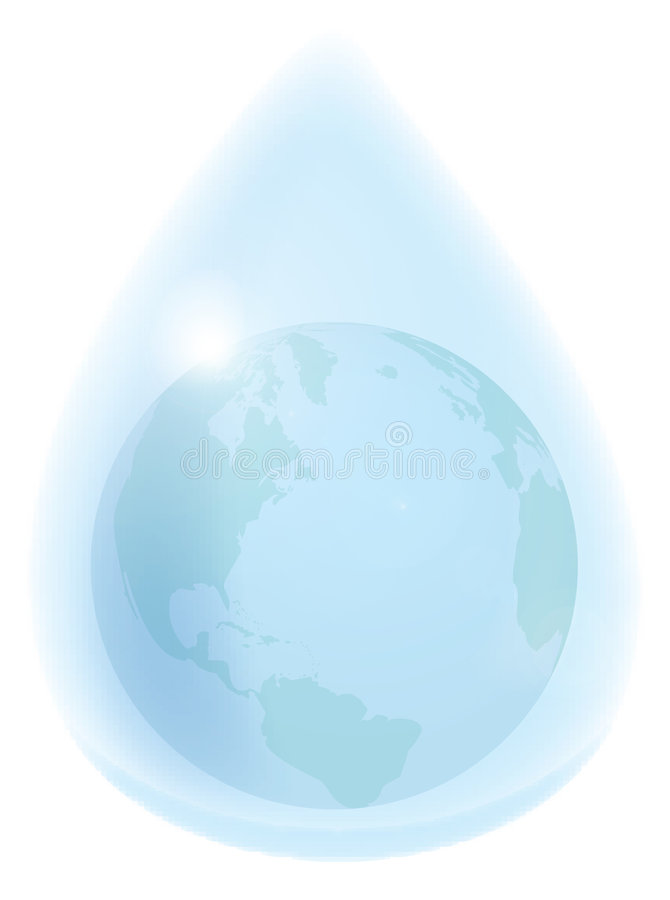 Download Earth in waterdrop stock illustration. Image of earth, nature - 784809