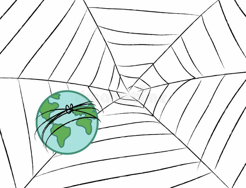 Download Earth In The Web Royalty Free Stock Photos - Image: 6656388