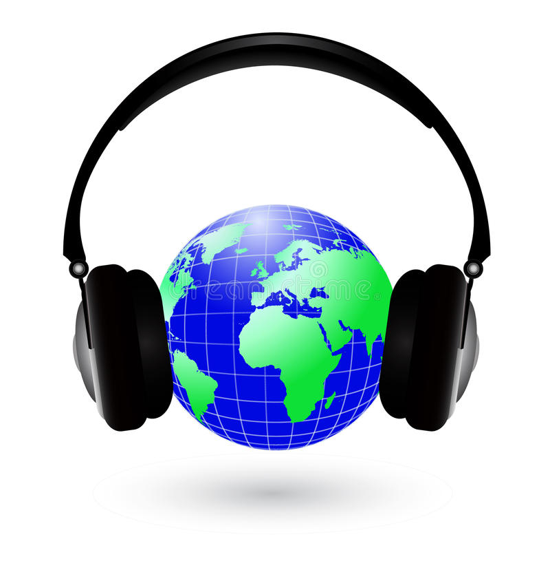 Free Earth With Headphones Stock Photo - 11756540